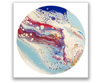 "Vibrant Abstract Print 12""x12"""