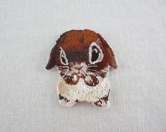 Rabbit Iron-On Patches Pet Series