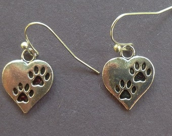 Pets Leave Footprints on Our Hearts Earrings