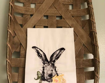 Flower Girl Bunny Napkin/ Deco Towel