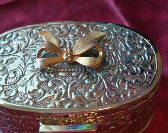 Gorgeous and Heavy Silver Jewelry Casket or Trinket Box