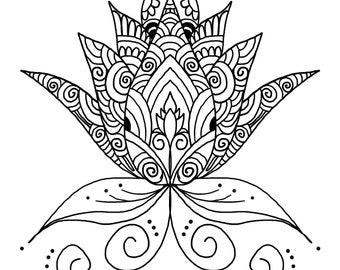 Downloadable Mandala Designs and Prints Coloring Pages (set of 5) SET A23