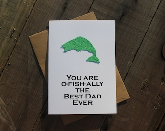 You are o-fish-ally the Best Dad Ever- Fish seed paper shape