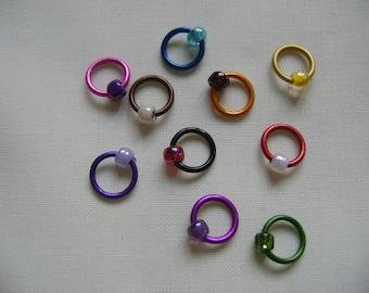 Rainbow Snag Free Stitch Markers - set E