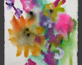 Sun Seeker - original watercolor painting