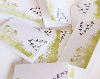 Handmade Mini Cards - flock of geese - mini schnauzer - dog mini cards - gift enclosures - gift tags - handmade