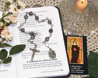 Unbreakable Catholic Chaplet of St. Scholastica - Patron Saint of Nuns, Convulsive Children and Against Rainstorms