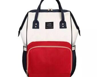 Diaper  Bag, Backpack, multifunctional, free monogram