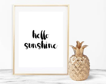 Hello Sunshine Wall Art, Hello Sunshine Print, Hello Sunshine Art, Hello Sunshine Word Art, Hello Sunshine Wall Decor, Wall Art, Wall Decor