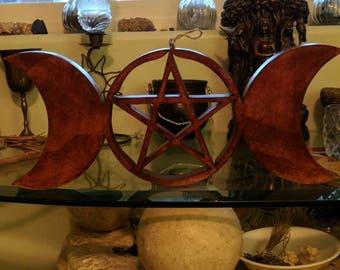Curvy Triple Moon Pentagram