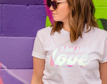 Spread Love Iridescent Unisex T-Shirt
