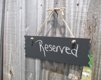 ONE Rustic Hanging Chalkboard Signs - Item 1311