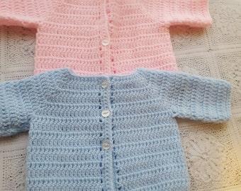 PDF Beginners baby crochet jacket pattern