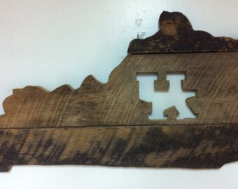 Bluegrass, Kentucky, basketball, football, bassball, UK, Barnwood art, barn wood states, wood creations, Barnwood creations, Barnwood design