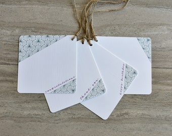 Geometric Burst Gift Tags | Set of 20 + Twine | READY TO SHIP | Hang Tag | Swing Tag | Favor Tag | Wine Tag | Party Gift Tag | Gift Wrap