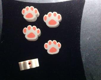 Beads plastic bear paws