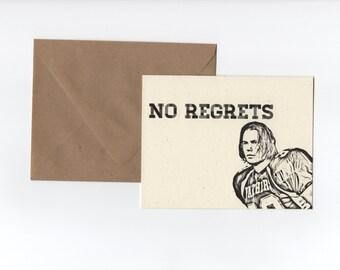 No Regrets // Friday Night Lights Greeting Card