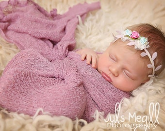 Sorbet RTS Stretchy Soft Newborn Knit Wraps 80 colors to choose from, photography prop newborn prop wrap