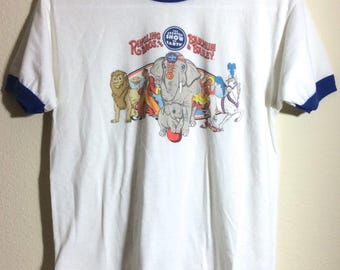1980s Ringer T shirt EPOC Barnum and Bailey Circus Ringling Brothers