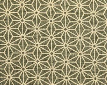 Japanese Asanoha fabric - Sevenberry - pattern geometric Asanoha traditional gray - by 50 cm (110 x)
