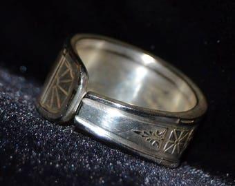 Straight Geometric Spoon Ring