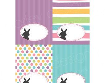 Easter Bunny Tent Labels Food Labels Buffet Labels Easter Party Decor Easter Birthday Bunny Birthday Printable Easter Labels Bunny Stripes
