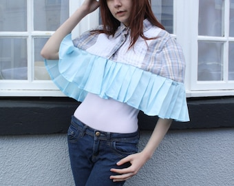 Customised Vintage Checked Cape