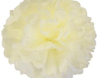 Cream Tissue Pom Poms 4, 6, 8 or 10 inch /Weddings/Showers/Birthdays/Parties