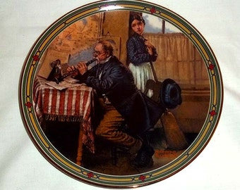 Knowles Norman Rockwell Collectors' Plate The Musician's Magic/ Sixth in Rockwell's American Dream Series / Limited and Numbered