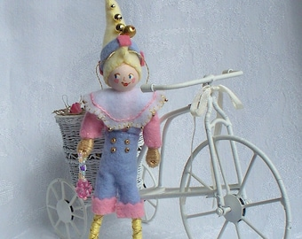 Bertie from The Spring Collection Hanging Ornament  felt art doll