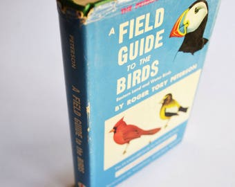 vintage bird field guide: A Field Guide to Western Birds by Roger Tory Peterson