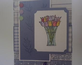 Beautiful handmade card for a woman