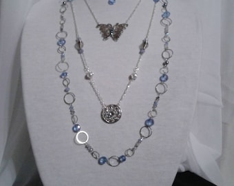 Summer sparkle delicate layered necklace