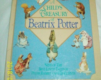 A Child's Treasury of Beatrix Potter : Nine of the Best-Loved Tales of Peter Rabbit and His Friends (1987, Hardcover)  Like New