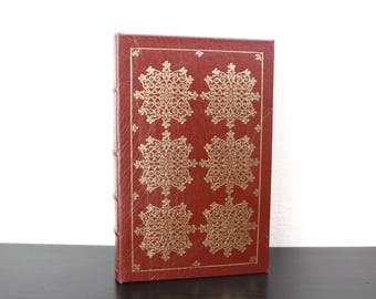 The Mill on the Floss by George Eliot, Illustrated Vintage Book Hardcover, The Easton Press Collector's Edition 1980, Red Hardcover 500058
