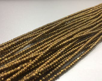"""AFRICAN Waist Beads --  GOLD (Small) -- 43""""   : Seed Beads, Glass beads, African Beads, Toma Beads"""