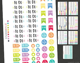 To Do Planner Stickers  - Repositionable Matte Vinyl Stickers for all Planners