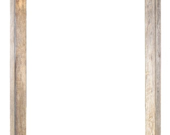 """24x30 –2"""" wide Barnwood Reclaimed Wood Open Frame (No Glass or Back)"""