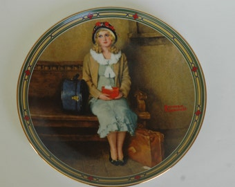 1977 Norman Rockwell A Young Girl's Dream Plate Number 15139 AB