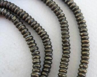 Old Brass Heishi Beads (4x2mm) [64868]