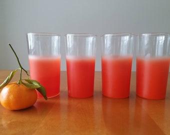 Vintage federal glass; swanky swigs; graffiti Orange