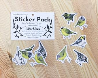 West Coast Warblers Vinyl Sticker 6-Pack