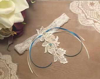 Ivory lace wedding garter * lace * custom