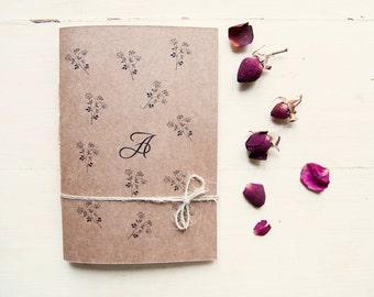 Personalized botanic notebook, wedding bridesmaid journal, rustic bridesmaid gift