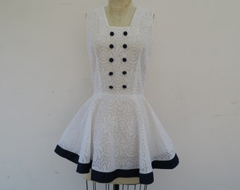 0883 - Vintage - Sailor Dress - Fashioned by Jez