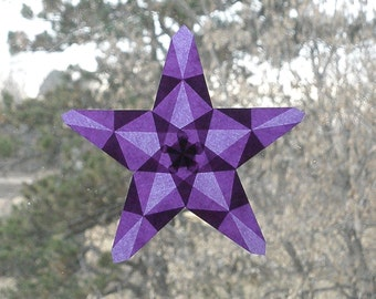 Amethyst Waldorf Window Star with 5 Points