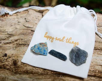 i am creative - Healing Crystal Kit 3 Crystals for the Throat Chakra