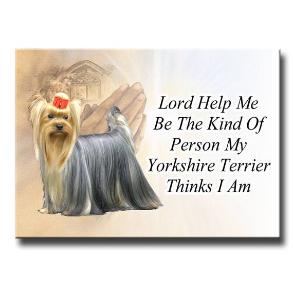 Yorkshire Terrier Lord Help Me Be Fridge Magnet