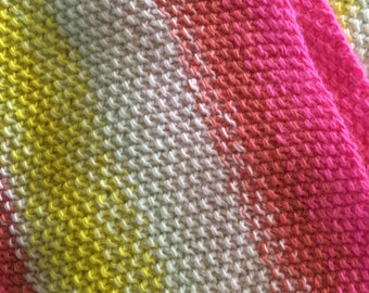 Bright Stripe Merino Wool Cowl
