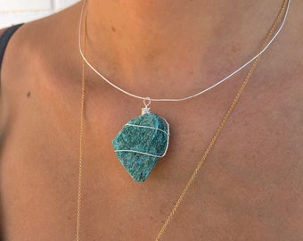 Sterling Silver Fuchsite Necklace
